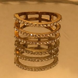Gold Stack Ring- Size 8